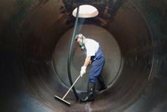 Tankinnenreinigung Zylinder